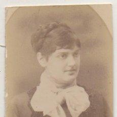 Fotografía antigua: FOTO DE SEÑORA. FOTOGRAFO RAFAEL ROCAFULL. CADIZ. AÑO 1862 - ALBUMINA-2900. Lote 206825011