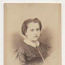 Fotografía antigua: FOTO DE NIÑA. FOTOGRAFO RAFAEL ROCAFULL. CADIZ. AÑO 1862 - ALBUMINA-2902. Lote 206825276