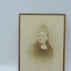 Fotografía antigua: FOTOGRAFIA ALBUMINA DE MUJER, FOTOGRAFIA ARTISTICA, BURGOS, MIDE 16 X 10,5 CMS.. Lote 206874112