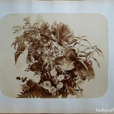 Fotografía antigua: ALBÚMINA DE BODEGÓN FLORAL, CIRCA 1855 ¿ADOLPHE BRAUN?. Lote 206894068