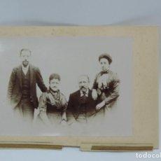 Fotografía antigua: FOTOGRAFIA ALBUMINA DE MUJERES, TAMAÑO POSTAL PEGADO SOBRE CARTULINA. FINALES DE SIGLO XIX.. Lote 206895572