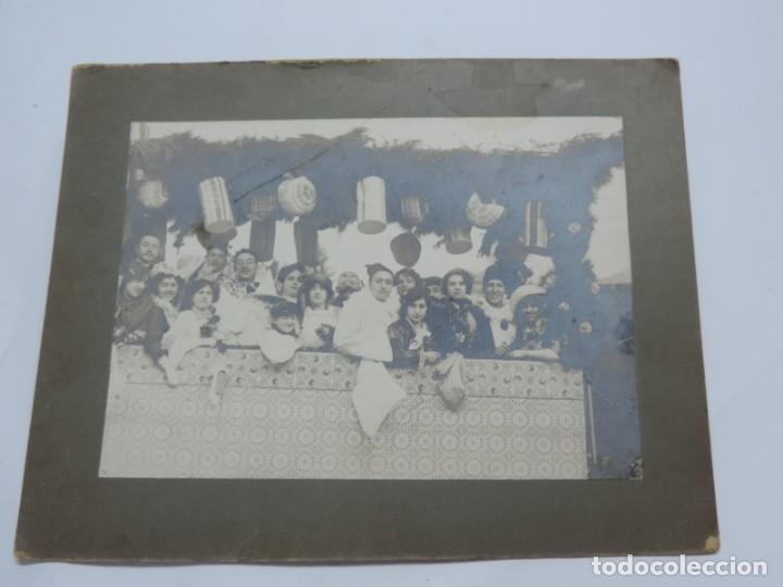 FOTOGRAFIA DE LOS CARNAVALES, CARNAVAL, AÑO 1910 / 20, MIDE 23 X 18 CMS. NO LOCALIZADA. (Fotografía Antigua - Albúmina)