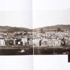 Fotografía antigua: CHARLES CLIFFORD. LAS 3 FOTOGRAFIAS DE BARCELONA VISTA DESDE MONTJUICH. 1860 CON SOPORTE Y SELLO.. Lote 207143533