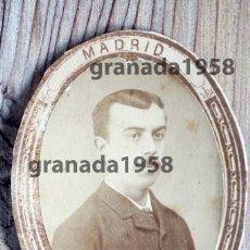 Fotografía antigua: MADRID. JOSÉ CANELLAS O'KELLY. ABOGADO. ORLA 1883 1884. FACULTAD DE DERECHO. Lote 207240127