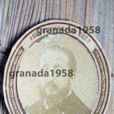 Fotografía antigua: PAMPLONA. FRANCISCO GONZÁLEZ CASTEJÓN. MARQUÉS DE VADILLO. MINISTRO. PROFESOR DERECHO ECLESIÁSTICO. Lote 207241520