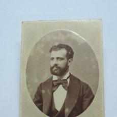 Fotografía antigua: FOTOGRAFIA ALBUMINA DE CABALLERO, FINALES DE SIGLO XIX. FOTO OTERO, MADRID, MIDE 16 X 11 CMS.. Lote 207353715