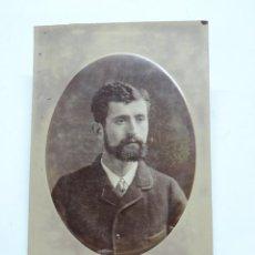 Fotografía antigua: FOTOGRAFIA ALBUMINA DE CABALLERO, FINALES DE SIGLO XIX. FOTO ANTONIO GARCIA, MIDE 16 X 11 CMS.. Lote 207353723