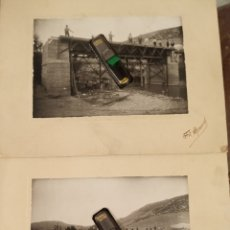 Fotografía antigua: 1910? GRANADA FOTOS CONSTRUCCIÓN PUENTE LOCALIDAD DE GRANADA. Lote 207885938