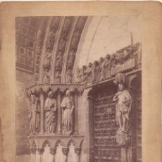 Fotografía antigua: BURGO DE OSMA.(SORIA).- PUERTA DE LA CATEDRAL. 21,7X28. TOTALES.. Lote 208050033