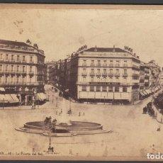 Fotografía antigua: MADRID 42 LA PUERTA DEL SOL, FOTOGRAFO J. LAURENT. 10,6X16,7 CM FOTOGRAFÍA ALBÚMINA. Lote 208939385