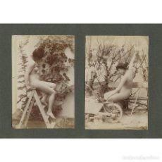 Fotografía antigua: JOSEP MARIA CAÑELLAS (REUS 1856 - PARÍS 1902). 2 FOTOGRAFÍAS DE DESNUDOS DE ESTUDIO. 1890'S.. Lote 209739940