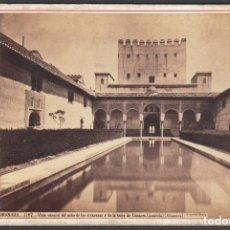 Fotografía antigua: GRANADA 1107 VISTA GENERA DEL PATIO DE LOS ARRAYANES Y TORRE DE COMARES. FOTO J. LAURENT. ALHAMBRA. Lote 209767057