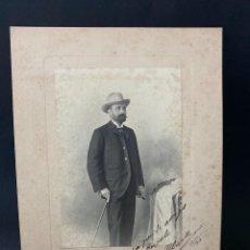 Fotografía antigua: CADIZ, 1903. MAL CHICANO. Y L. HERNANDEZ. FOTOGRAFIA CON DEDICATORIA. EL POLVORILLA.. Lote 209995345