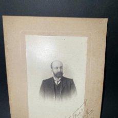 Fotografía antigua: CADIZ, 1905. MAL CHICANO. Y L. HERNANDEZ. FOTO CON DEDICATORIA DE JOSE LUIS GOMEZ. ALCALDE DE CADIZ. Lote 209996560