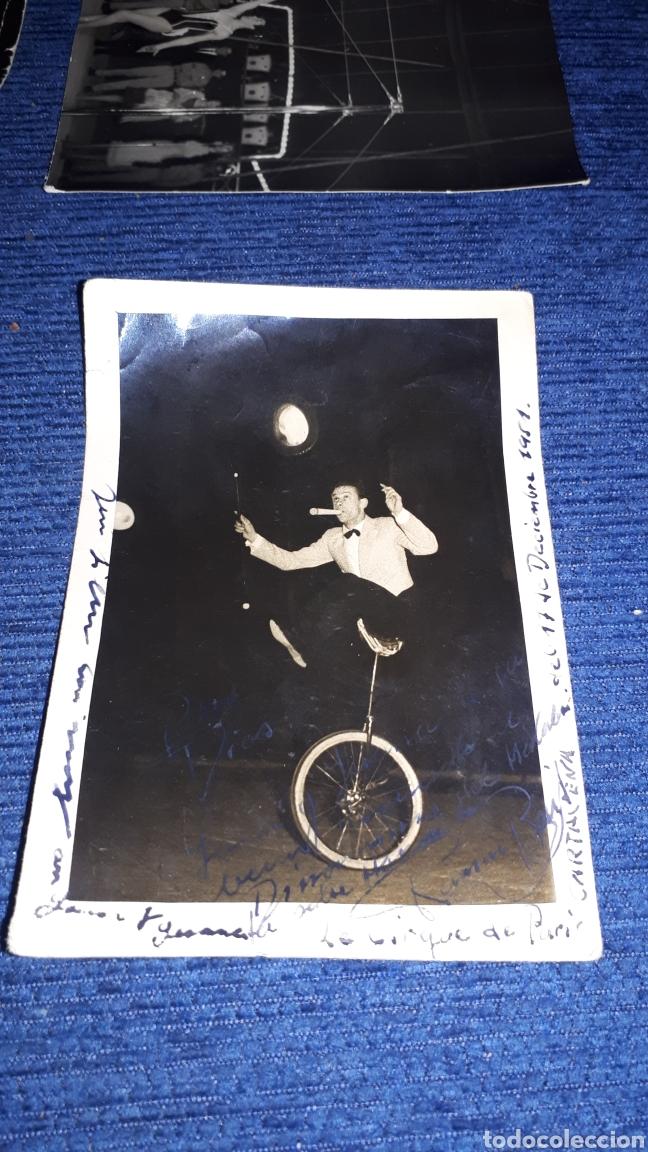 Fotografía antigua: Lote fotografías circenses escenas de circo antiguas de Jaén - Foto 3 - 210219596