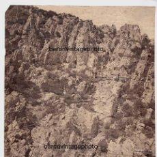 Fotografía antigua: ESPAÑA - LOCOMOTORA Y PERSONAS. LOCALIZACIÓN DESCONOCIDA, 1858-62 APROX. ATRIBUIDA A CH. CLIFFORD.. Lote 210325060
