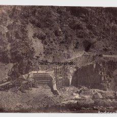 Fotografía antigua: ESPAÑA - OBRAS PÚBLICAS, 1858-62 APROX. ATRIBUIDA A CHARLES CLIFFORD. 26,4X35,4 CM.. Lote 210325345