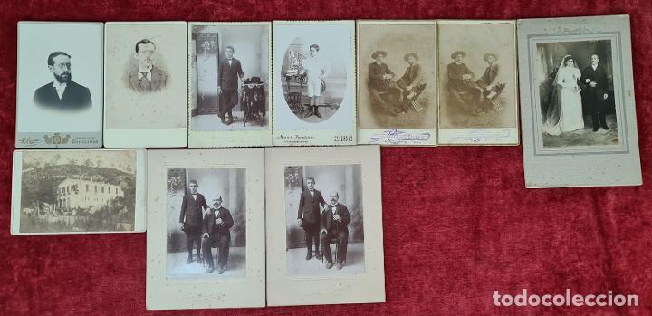 COLECCIÓN DE 10 FOTOGRAFIAS FAMILIARES. ALBUMINA. CUBA. 1910. (Fotografía Antigua - Albúmina)