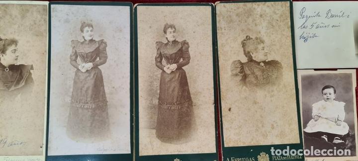 Fotografía antigua: COLECCION DE 9 FOTOGRAFIAS FAMILIARES. ALBUMINA. ESPAÑA. CIRCA 1900. - Foto 4 - 210551216