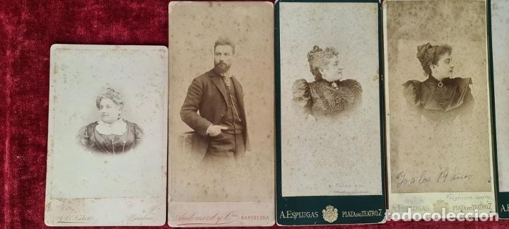 Fotografía antigua: COLECCION DE 9 FOTOGRAFIAS FAMILIARES. ALBUMINA. ESPAÑA. CIRCA 1900. - Foto 5 - 210551216