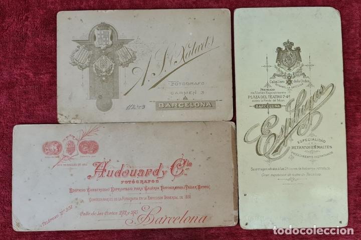 Fotografía antigua: COLECCION DE 9 FOTOGRAFIAS FAMILIARES. ALBUMINA. ESPAÑA. CIRCA 1900. - Foto 6 - 210551216