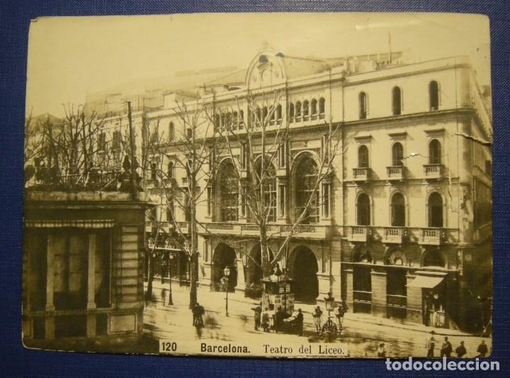 ALBUMINA BARCELONA TEATRO DEL LICEO 20 X 14,50 VER DESCRIPCION (Fotografía Antigua - Albúmina)