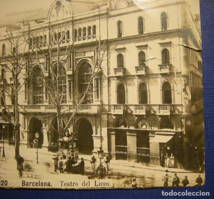 Fotografía antigua: ALBUMINA BARCELONA TEATRO DEL LICEO 20 X 14,50 VER DESCRIPCION - Foto 2 - 210602910