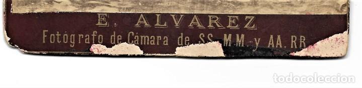 Fotografía antigua: FIGURA ECLESIÁSTICA- FOTÓGRAFO E. ÁLVAREZ, FOTÓGRAFO DE CÁMARA DE SS.MM, MADRID - S. XIX PRINC. XX - Foto 3 - 210936376