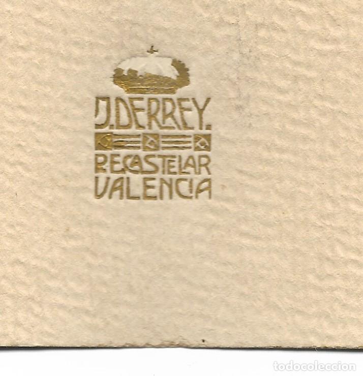 Fotografía antigua: PERSONA MAYOR CON BLUSÓN TÍPICO - FOTÓGRAFO J. DERREY, VALENCIA - PRINCIPIOS SIGLO XX - Foto 3 - 210938157