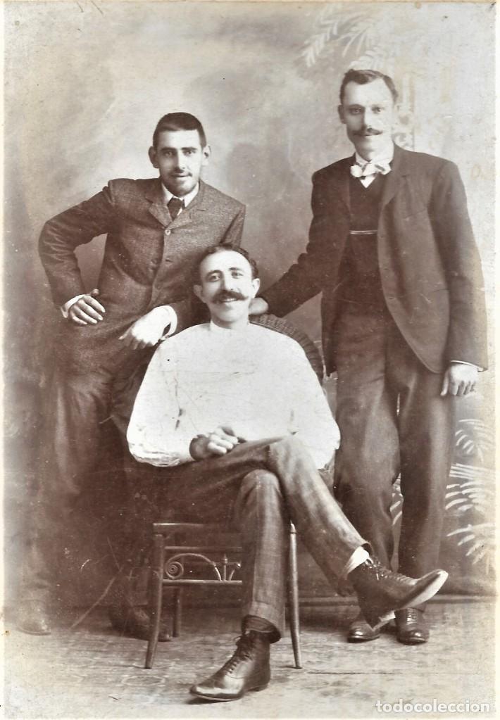 Fotografía antigua: RETRATO DE GRUPO - FOTÓGRAFO RAMÓN CARRERAS - HABANA (CUBA) - Foto 4 - 210988851