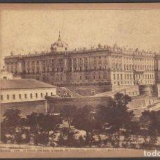 Fotografía antigua: FOTO DE MADRID Nº1016 EL PALACIO REAL DESDE LA MONTAÑA DEL PRINCIPE PIO. J. LAURENT ALBUMINA. Lote 211480610