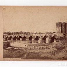Fotografía antigua: CÓRDOBA.- PUENTE ROMANO LAURENT. FOTO J. LAURENT 16,5X11.TOTALES.. Lote 211492034