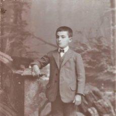 Fotografía antigua: RETRATO DE UN NIÑO - FOTÓGRAFO MIGUEL OLIVENZA, BADAJOZ - FINALES SIGLO XIX PRINCIPIOS XX. Lote 212033337