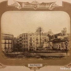 Fotografía antigua: BARCELONA.- PLAZA DE LA JUNQUERA. BELLEZAS DE BARCELONA. 45,5X31. TOTALES. Lote 212107491