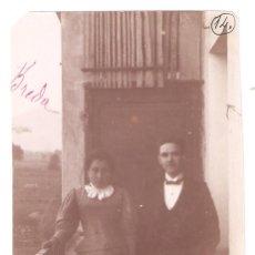 Fotografía antigua: BREDA 1896. PAREJA. GERONA. 8 X 11,4 CMS - VELL I BELL. Lote 212174612