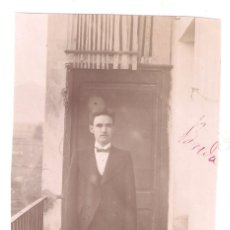 Fotografía antigua: BREDA 1896. HOMBRE. GERONA. 8 X 10,9 CMS - VELL I BELL. Lote 212174671