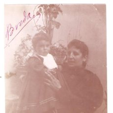 Fotografía antigua: BREDA 1896. MUJER Y NIÑA. GERONA. 8 X 11 CMS - VELL I BELL. Lote 212174762