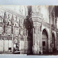 Fotografía antigua: TOLEDO.- VISTA INTERIOR DE SAN JUAN DE LOS REYES. J. LAURENT Y Cª. 34,5X25. SOLO ALBÚMINA. Lote 212525393