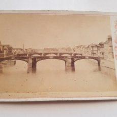 Fotografía antigua: FOTOGRAFÍAS EN FORMATO GABINETTO DE 1883 EL PUENTE SANTISIMA TRINIDAD DE FLORENCIA ITALIA SIGLO XIX. Lote 212987406