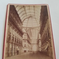 Fotografía antigua: FOTOGRAFÍAS EN FORMATO GABINETTO DE 1882 GALLERIA VITTORIO EMANUELE MILANO ITALIA SIGLO XIX. Lote 212988113