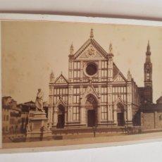 Fotografía antigua: FOTOGRAFÍAS EN FORMATO GABINETTO DE 1883 PLAZZA SANTA CROCE E. DANTE DE FLORENCIA ITALIA SIGLO XIX. Lote 212990838