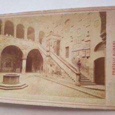 Fotografía antigua: FOTOGRAFIA DE FRATELLI ALINARI 1883 DE PALAZZIO PRETORIO O DEL PODESTA FLORENCIA ITALIA SIGLO XIX. Lote 213006932