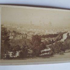 Fotografía antigua: FOTOGRAFIA DE GIACOMO BROGI 1883 DE PANORAMA DAL VIALE DE COLLI FLORENCIA ITALIA SIGLO XIX. Lote 213008602