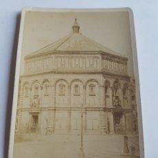 Fotografía antigua: FOTOGRAFIA DE GIACOMO BROGI 1883 BATTISTERO DI SAN GIOVANNI FLORENCIA ITALIA SIGLO XIX. Lote 213010042