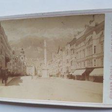 Fotografía antigua: FOTOGRAFIA DE JOHANN GROSS IN INNSBRUCK 1887 VISTAS TIROL AUSTRIA SIGLO XIX. Lote 213015583