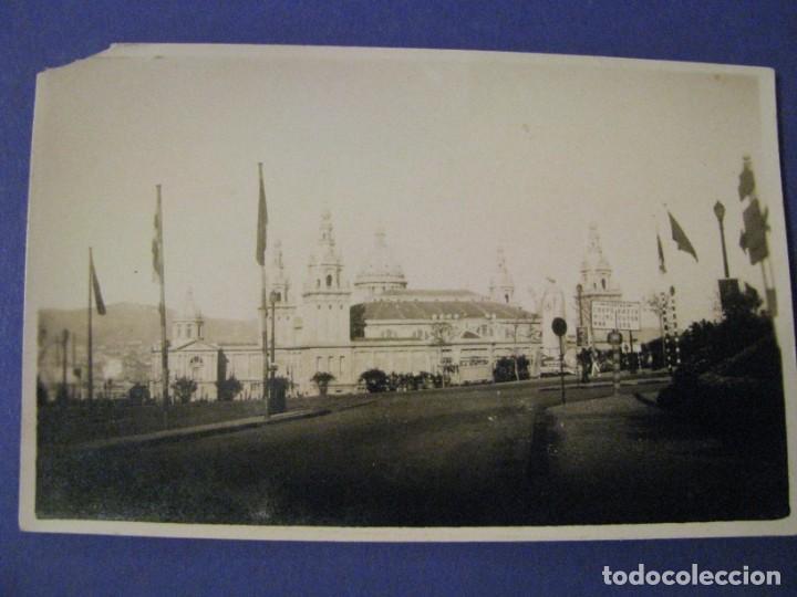 BARCELONA 1929. EXPO. PALACIO NACIONAL DESDE AVDA. EL ESTADIO. SELLO ENRIQUE FILLOL, ALGECIRAS. (Fotografía Antigua - Albúmina)