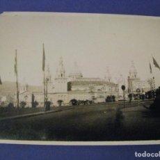 Fotografía antigua: BARCELONA 1929. EXPO. PALACIO NACIONAL DESDE AVDA. EL ESTADIO. SELLO ENRIQUE FILLOL, ALGECIRAS.. Lote 213022935