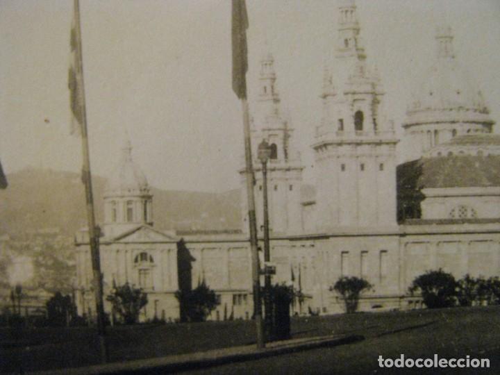 Fotografía antigua: BARCELONA 1929. EXPO. PALACIO NACIONAL DESDE AVDA. EL ESTADIO. SELLO ENRIQUE FILLOL, ALGECIRAS. - Foto 2 - 213022935