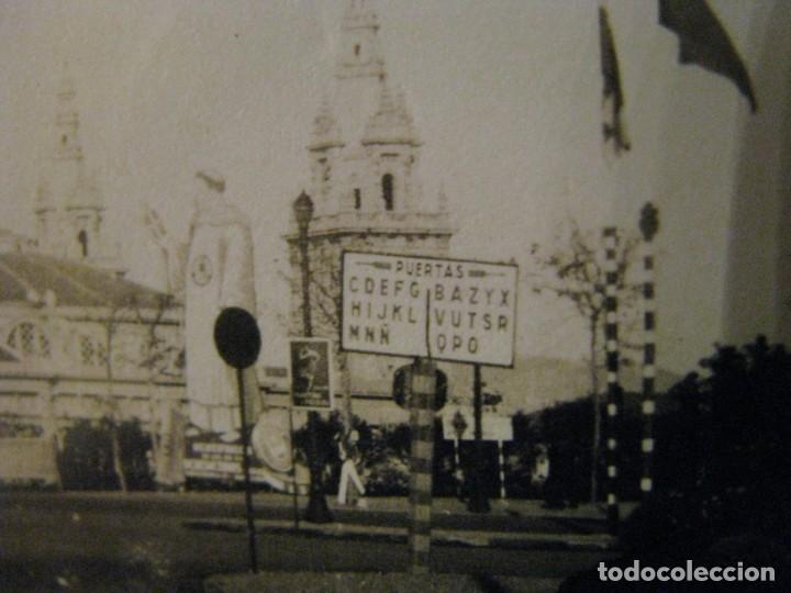 Fotografía antigua: BARCELONA 1929. EXPO. PALACIO NACIONAL DESDE AVDA. EL ESTADIO. SELLO ENRIQUE FILLOL, ALGECIRAS. - Foto 3 - 213022935