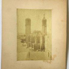Fotografía antigua: BARCELONA. VISTA DE LA CATEDRAL. ALBÚMINA SOBRE CARTÓN.. Lote 213302855
